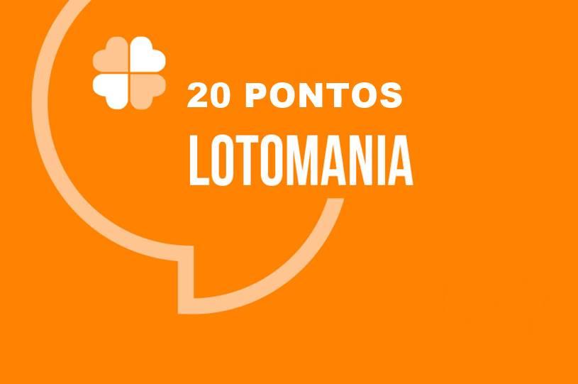 fazer 20 pontos na lotomania - orientações
